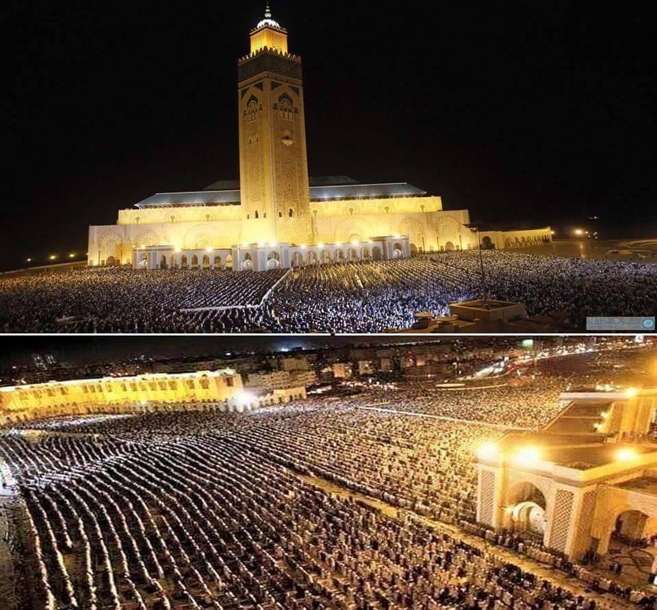 الدرا البيضاء: 2مليون مصلي بمسجد الحسن الثاني خلال صلاة التراويح