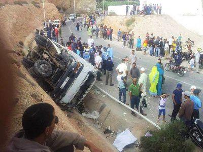 مير اللفت: وفاة طفلة وكسر ظهر أمها في حادثة سير