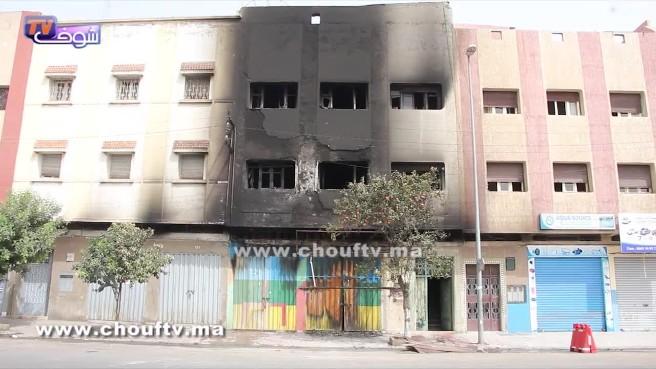صادم.. هذا هو الفيديو الأول للحريق المهول بمحل دروكري بحي الألفة