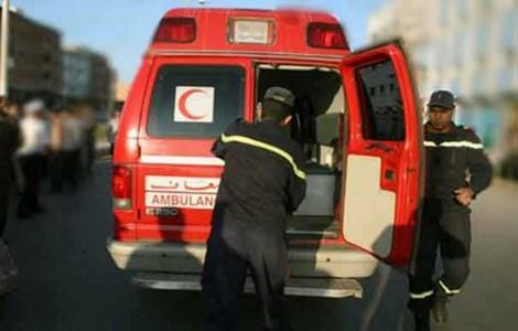 نقل مصابين في حادث بإمنتانوت بين سيارتين قادمتين من أكاير