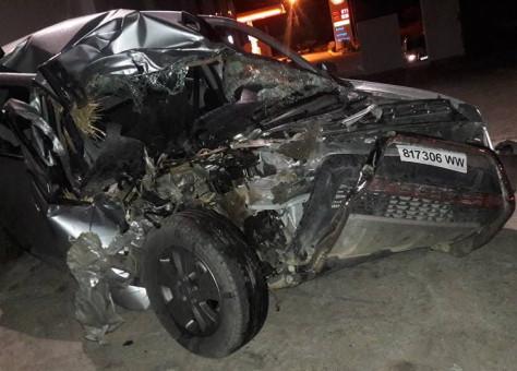 """نجاة برلماني من موت محقق  اصدمت سيارته ب""""شاريو"""" تراكتور مليئ بالتبن"""